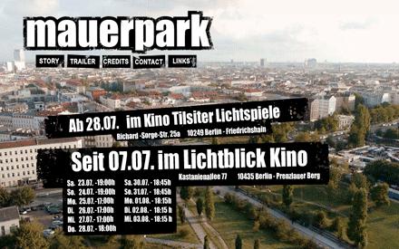 """Kinostart des Dokumentarfilms """"Mauerpark"""""""