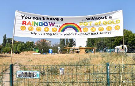 Im Mauerpark wird die Regenbogen-Legende wahr