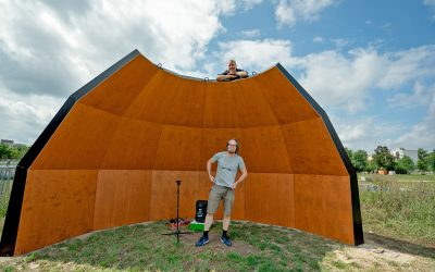 Acoustic Shell: Erste Shell im Mauerpark startklar