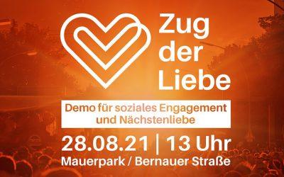 Wir für Euch mit dem Zug der Liebe durch Berlin